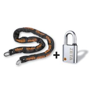 Bezpečnostní řetězy s visacím zámkem