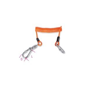 Kroucené lano s 2 karabinami pro upevnění nářadí při práci ve výškách