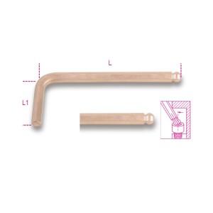 Lomené šestihranné klíče s kulovou hlavou,  nejiskřící