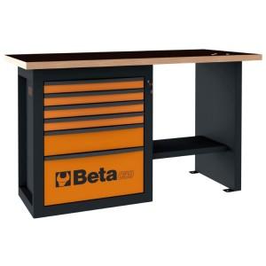 """Pracovní stůl """"Endurance"""" s 1 kabinou na kolečkách se šesti zásuvkami, krátký model"""