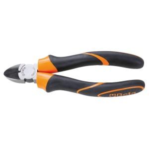 Diagonal cutting nippers, bi-material handles, industrial finish