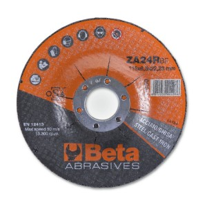 Abrasive steel grinding discs, with zirconia abrasive and depressed centre