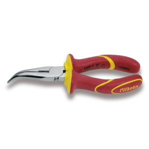 Extra long bent needle nose pliers