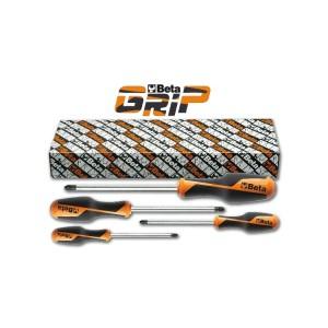 Set of 4 screwdrivers for Pozidriv®-Supadriv® head screws