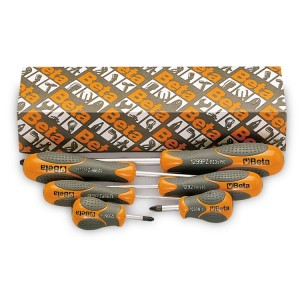 Set of 6 screwdrivers for Pozidriv®-Supadriv® head screws