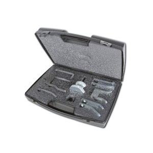 Tool assortment for removing Denso injectors, complete with hammer