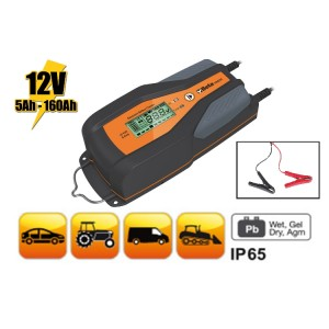 Electronic car / commercial vehicle battery charger, 12 V