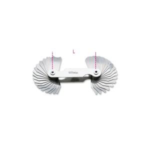 Radius gauges,  concave and convex steel blades