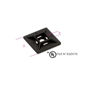 Cable tie mounts - two-way, UV resistant