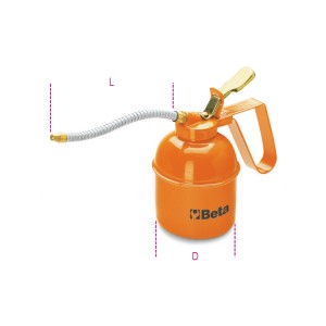 Metal pressure oil cans flexible spout