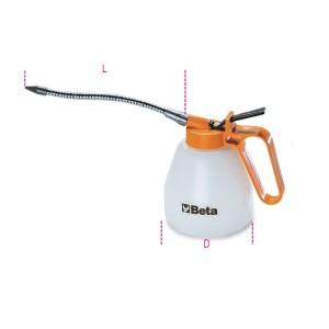 Plastic pressure oil cans flexible spouts