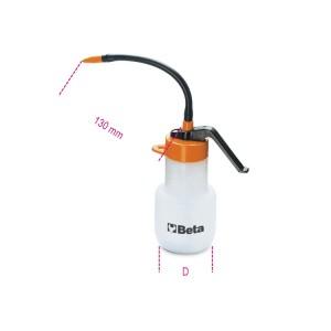 Plastic pressure oil cans flexible  plastic spouts
