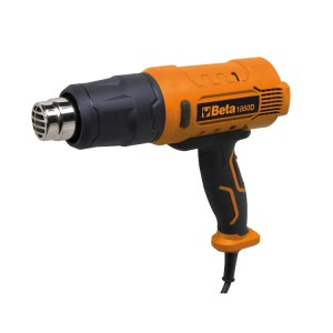 3-speed heat gun  Functions: • Heat shrinking • Stripping paint, softening PVC parts • Soldering, welding • Shrinking cables • Thawing, drying, disinfecting • Treating glued parts