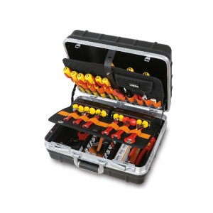 Tool cases with assortments of tools  for electronic and electrotechnical maintenance