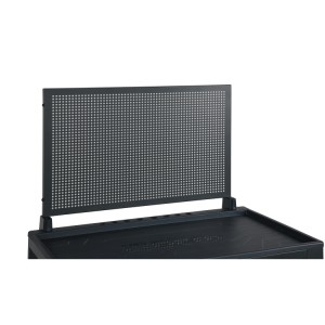 Perforated tool panel with supports, for roller cab RSC24