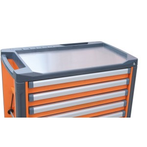 Stainless steel worktop for mobile roller cab item C37
