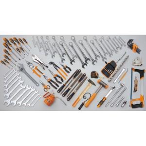 Assortment of 107 tools