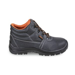 Leather ankle shoe, water-repellent