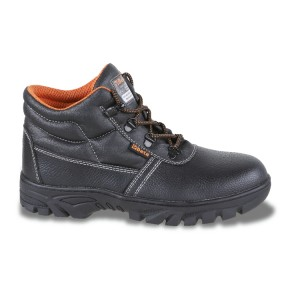 Leather ankle shoe, waterproof,  with durable rubber outsole  and quick opening system