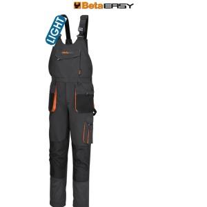 Work bib and brace overalls, lightweight  New design - Improved fit