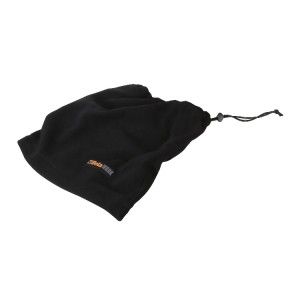 Neck warmer made of microfleece, with adjuster, black