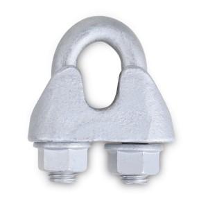 Wire rope clips, made of malleable cast iron, HOT DIP GALVANIZED body, GEOMET-GEOKOTE U-bolts and nuts