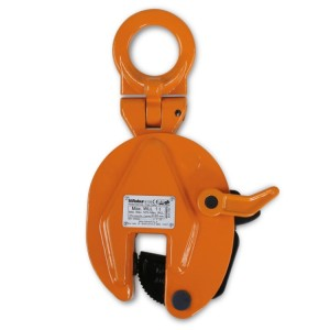 Steel plate lifting clamps with articulated lifting eyes