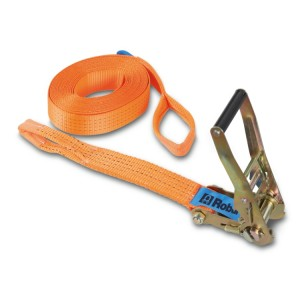 Ratchet tie downs with 2 eyes,  high-tenacity polyester (PES) belt LC 2000 kg