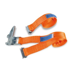 Ratchet tie downs for van and truck interiors, LC 1000 kg, high-tenacity polyester (PES) belt