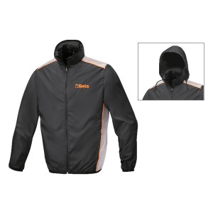 Waterproof jacket, 100% polyester, folds into pocket
