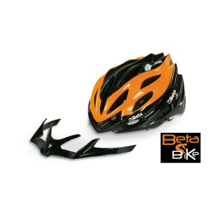 Protective road and mountain bike cycling helmet with detachable chin guard - adjustable sizes