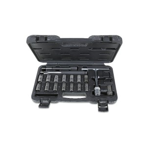 Assortment of 19 tools  for cleaning injector seats
