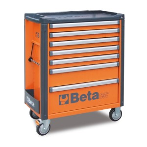Mobile roller cab with 7 drawers