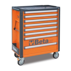 Mobile roller cab with 8 drawers