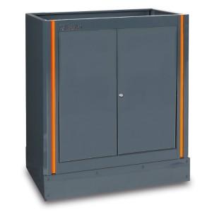 Fixed two-door module, for workshop equipment combination