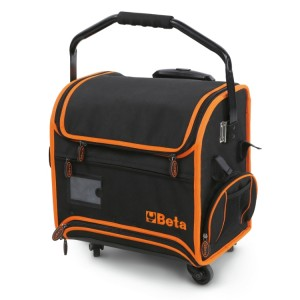Tool trolley made from technical fabric, for electricians