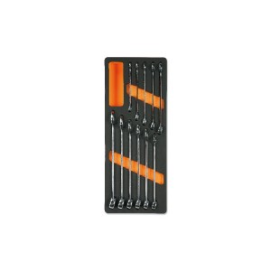 Foam tray with combination wrenches