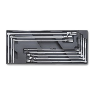 Hard thermoformed tray with tool assortment