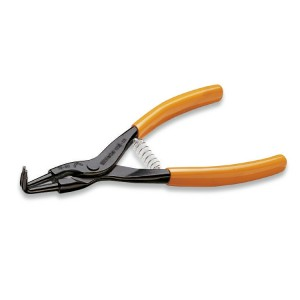 External circlip pliers, bent pattern,  90° PVC-coated handles