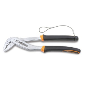 Slip joint pliers, boxed joint, bimaterial handles H-SAFE