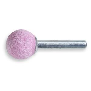 Abrasive shaft-mounted wheels, abrasive pink corundum grains, ceramic bonded, globe-shaped