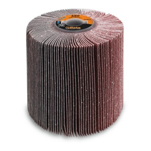 Flap wheels with corundum cloth for satinizing machines