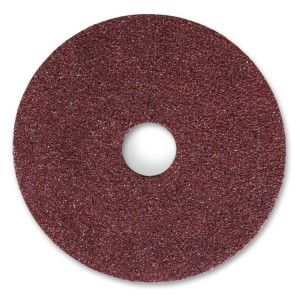 Fibre discs with corundum cloth
