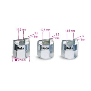 Set of 3 sockets  for shock absorber nuts
