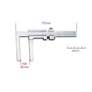 Sliding gauge for brake discs  reading to 0.1 mm