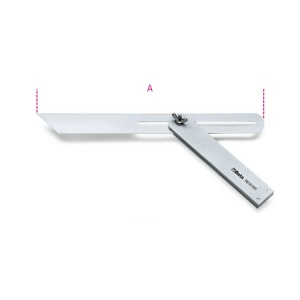 Mitre square, adjustable sliding blade,  base and blade made from steel