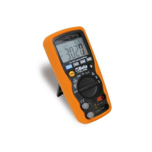 Industrial digital multimeter accurate and sturdy, in a 6-mm co-moulded shell, with antislip, shockproof outer rubber part