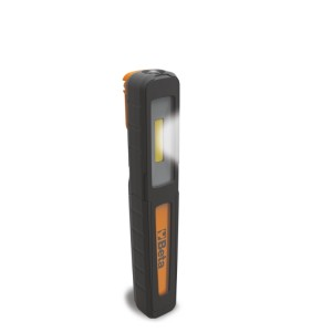 Rechargeable inspection pen light,  with double light emission: lamp and torch