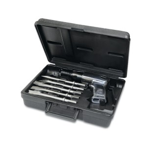 Air hammer with 5 chisels and accessories
