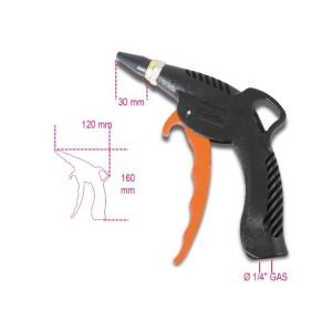 Progressive blow gun with rubber nozzle